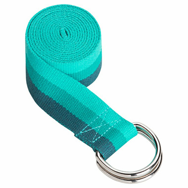 Gaiam Yoga Strap 6\' Tri-colour Lush Teal