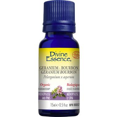 Divine Essence Geranium Bourbon Organic Essential Oil