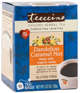 Teeccino Dandelion Caramel Nut Chicory Herbal Tea