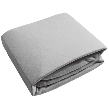 Kushies Flannel Bassinet Pad Fitted Sheet Grey