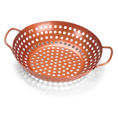 Outset Copper Nonstick Round Grill Wok