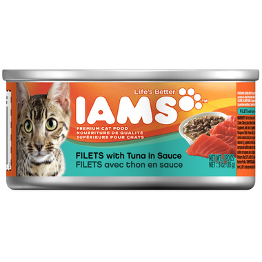 Iams Cat Food Filets With Tuna In Sauce