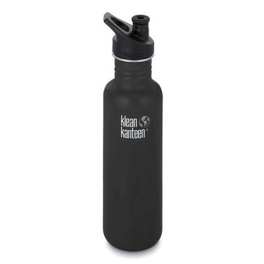 Klean Kanteen Classic Bottle with Sport Cap 3.0 Shale Black