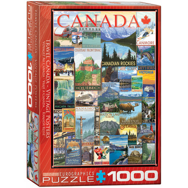 Eurographics Travel Canada Vintage Posters Puzzle