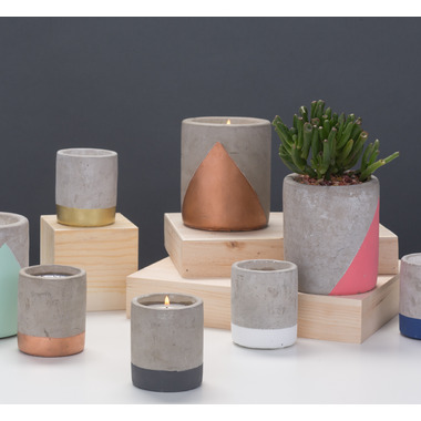 Paddywax Urban Concrete Pot Dark Grey Fig & Olive Candle