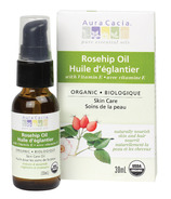 Aura Cacia Organic Rosehip Skin Care Oil Boxed