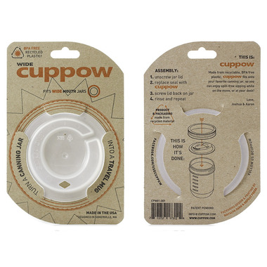 Cuppow Canning Jar Drinking Lid