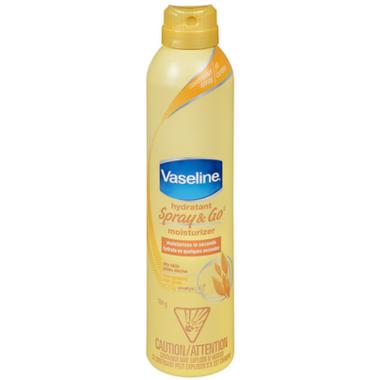 Vaseline Spray & Go Moisturizer in Dry Skin