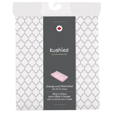 Kushies Flannel Change Pad Fitted Sheet Ornament Grey