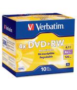 Verbatim DataLife Plus Branded DVD+RW Discs