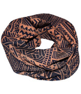 L&P Apparel Infinity Scarf Navy Blue & Caramel