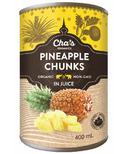 Cha's Organics Pineapple Chunks In Juice