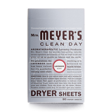 Mrs. Meyer\'s Clean Day Lavender Dryer Sheets