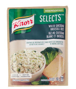 Knorr Selects White Cheddar Broccoli Rice Sample