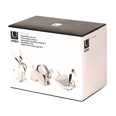 Umbra Origami Ring Holder 3 Pack Chrome