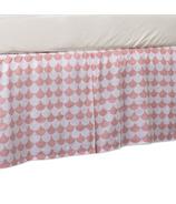 Lolli Living Bed Skirt Kayden Pink Scallop
