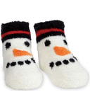 Mud Pie Chenille Snowman Socks