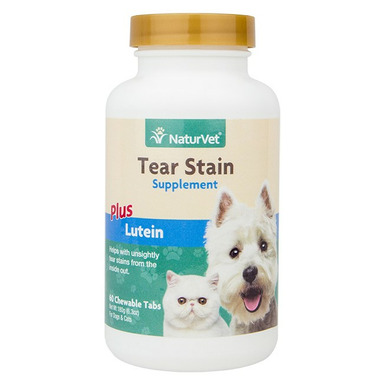 Naturvet Tear Stain Supplement Tablets Plus Lutein