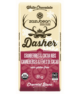 zazubean Dasher White Chocolate With Cocoa Nibs & Cranberries
