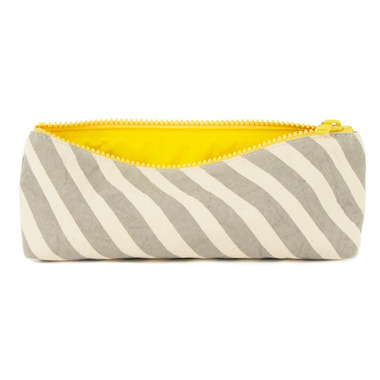 Fluf Grey Stripe Pencil Case