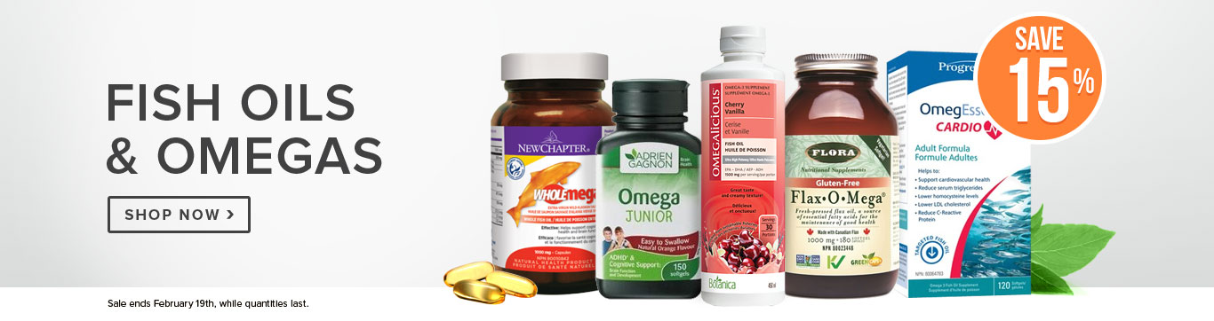 Save 15% on Fish Oils and Omegas