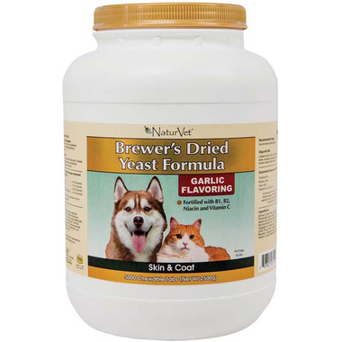 Naturvet Brewer\'s Dried Yeast Formula Tablets Garlic