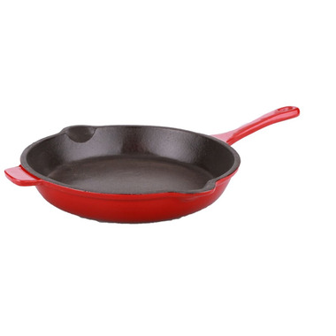 BergHOFF Neo 10 Inch Cast Iron Fry Pan Red