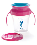Wow Baby Wow Cup Pink Handle & Teal Valve