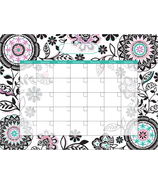 WallPops Floral Medley Monthly Dry-Erase Calendar Decal