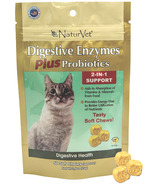 Naturvet Digestive Enzymes Plus Probiotics Cat Soft Chews