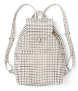 Baggu Drawstring Backpack in Natural Grid