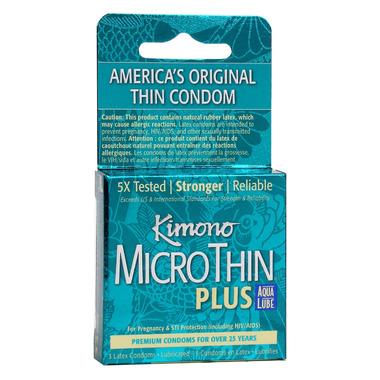 Kimono MicroThin Plus Aqua Lube Condoms