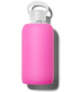 bkr Baby Glass Water Bottle Sheer Fuchsia