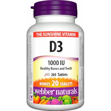 Webber Naturals Vitamin D3 Tablets Bonus Size