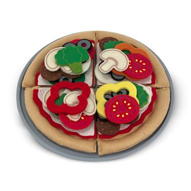 Melissa & Doug Felt Play Food Pizza Set