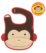 Skip Hop Zoo Bibs Tuck-Away Bib Monkey Design