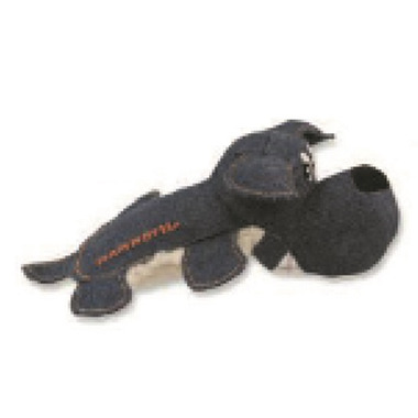 Mammoth Squeakies Dog Denim Dog Toy with Lambswool Small 8 Inch