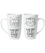 Now Designs Waking Up Tall Porcelain Mug