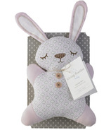 Living Textiles 2D Plush Bunny Toy With Rattle