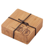 bambu Coasters with Bicycle Motif
