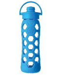 Lifefactory Glass Bottle Ocean Flip Cap & Silicone Sleeve