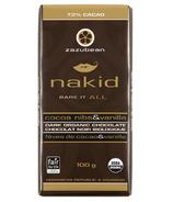 zazubean Nakid Dark Organic Chocolate Bar