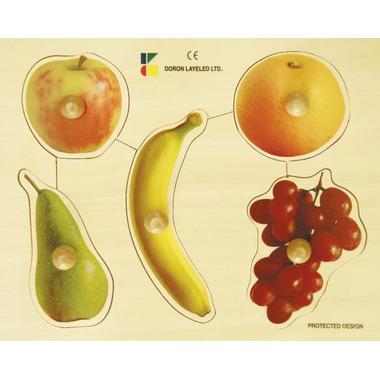 EduShape Large Knob Wooden Puzzle Fruits
