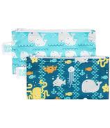 Bumkins Reusable Snack Bag Small Sea Friends