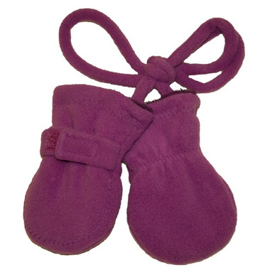 Calikids No Thumb Mitts with String Fuschia