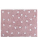 Lorena Canals Washable Rug Topos Pink Polka Dot