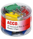 Acco Coloured Binder Clips