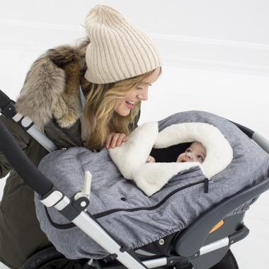 Skip Hop Stroll & Go Car Seat Cover Heather Grey