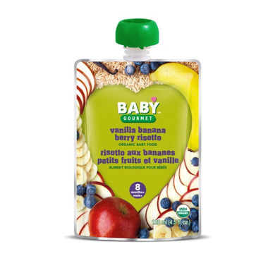 Baby Gourmet Vanilla Banana Berry Risotto Baby Food Case