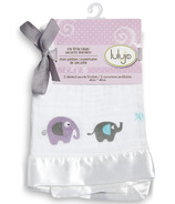 Lulujo Baby Muslin Cotton Security Blankets Elephants
